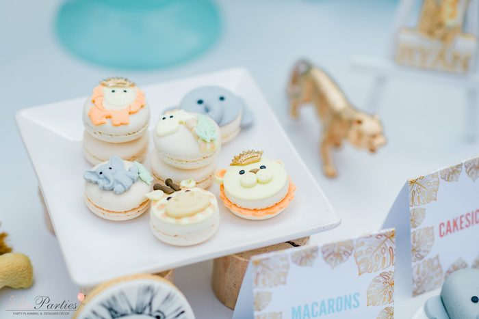 Safari Animal Macarons from a Hot Air Balloon Safari Birthday Party on Kara's Party Ideas | KarasPartyIdeas.com (25)