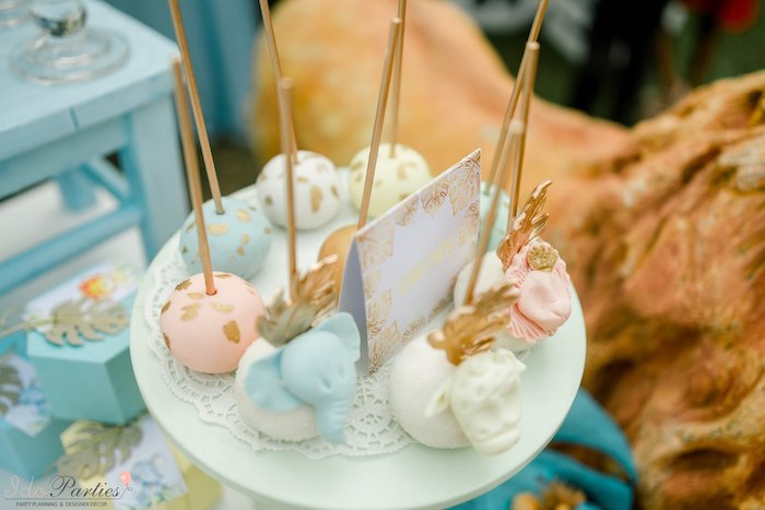 Safari Themed Cake Pops from a Hot Air Balloon Safari Birthday Party on Kara's Party Ideas | KarasPartyIdeas.com (24)