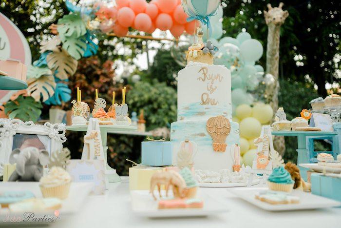 Hot Air Balloon Safari Birthday Party on Kara's Party Ideas | KarasPartyIdeas.com (39)