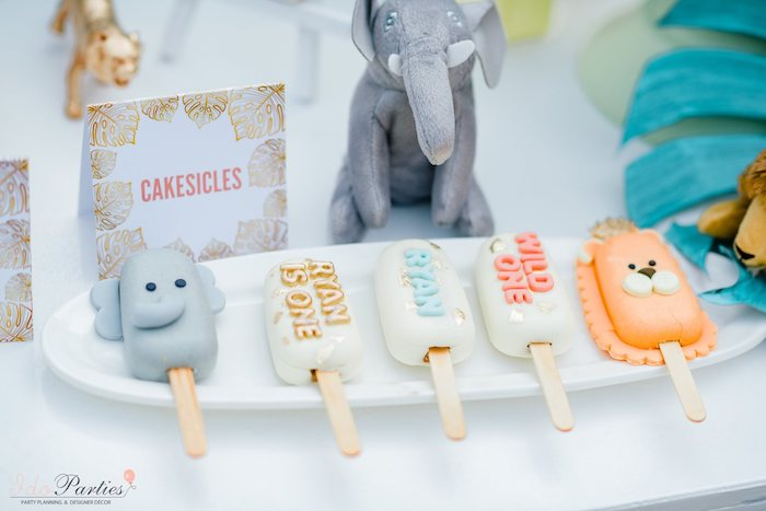 Safari Animal/Themed Cakesicles from a Hot Air Balloon Safari Birthday Party on Kara's Party Ideas | KarasPartyIdeas.com (11)
