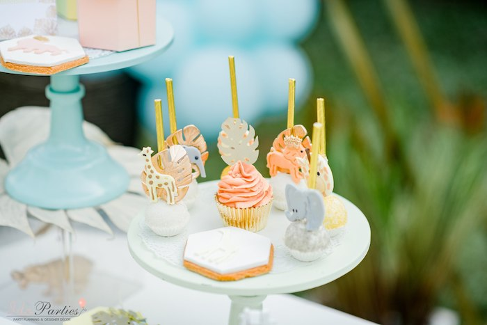 Safari Cake Pops + Sweets from a Hot Air Balloon Safari Birthday Party on Kara's Party Ideas | KarasPartyIdeas.com (32)