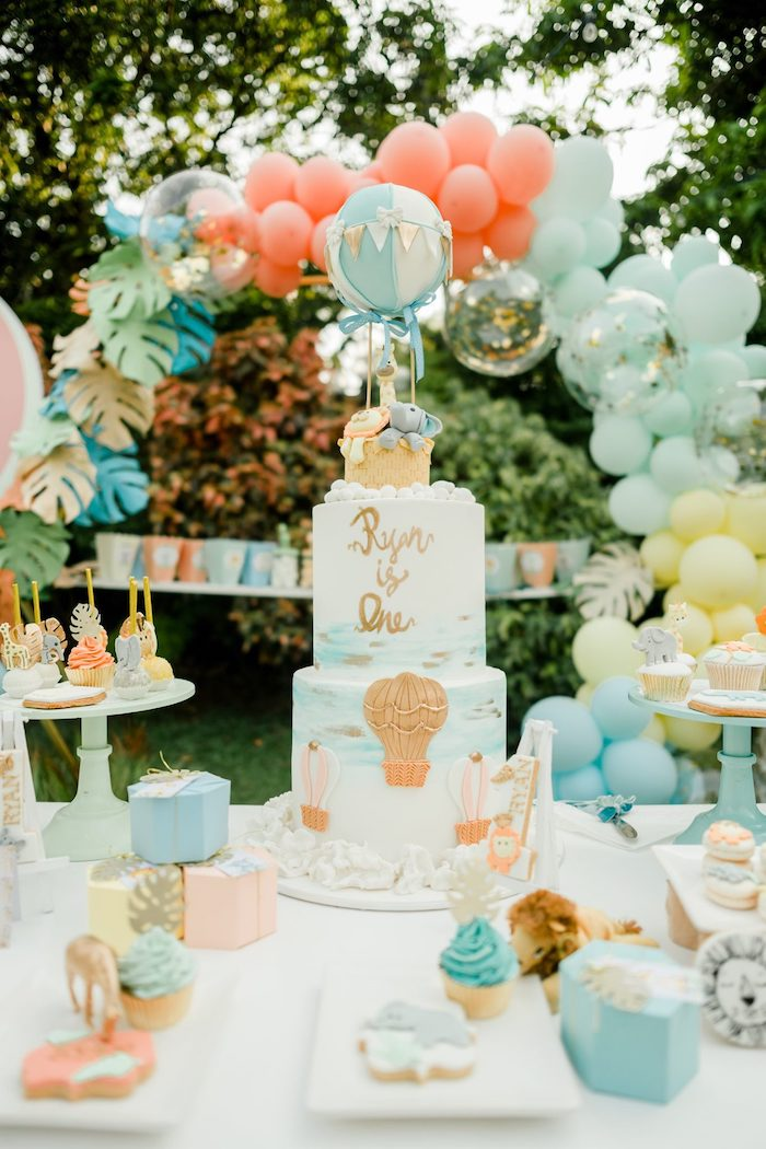 Hot Air Balloon Safari Birthday Party on Kara's Party Ideas | KarasPartyIdeas.com (31)