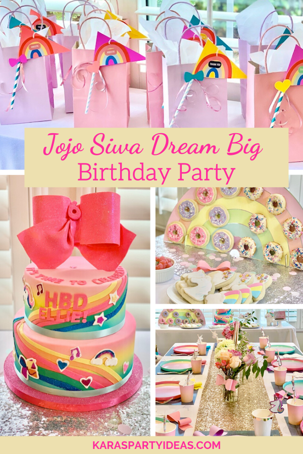 Jojo Siwa Dream Big Birthday Party via Kara's Party Ideas - KarasPartyIdeas.com