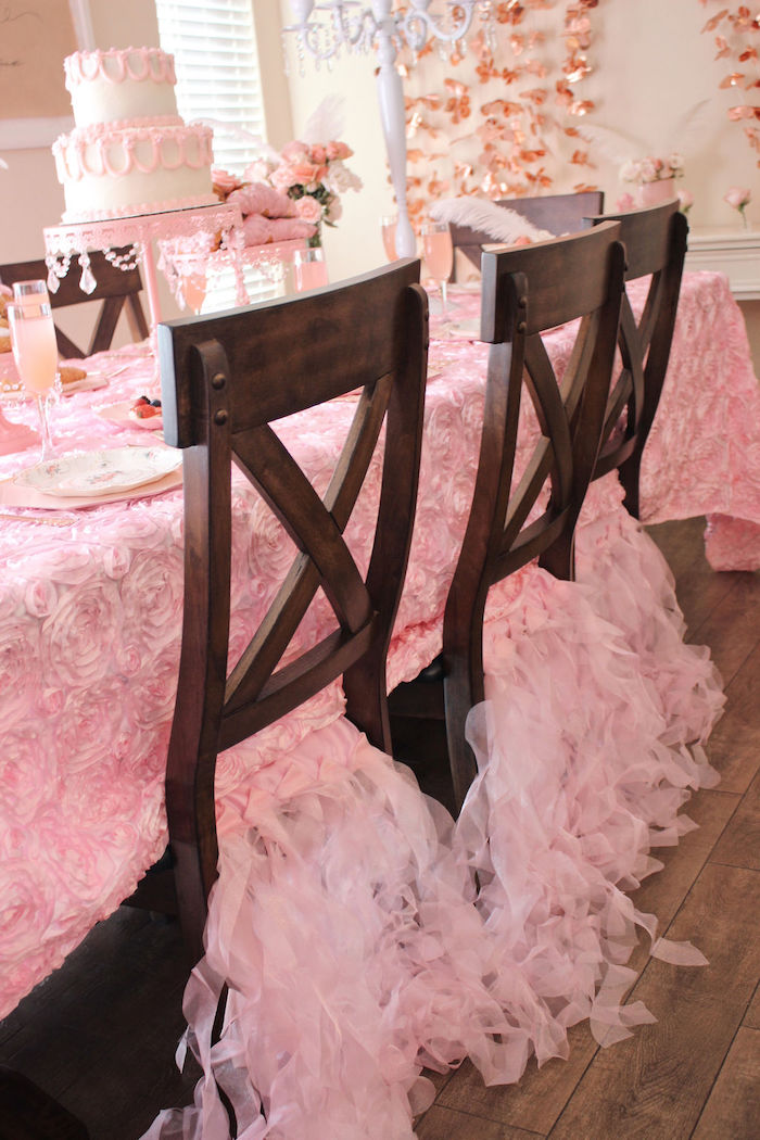 Ruffle Tassel Chair Skirts from a Marie Antoinette Inspired Party on Kara's Party Ideas | KarasPartyIdeas.com (24)
