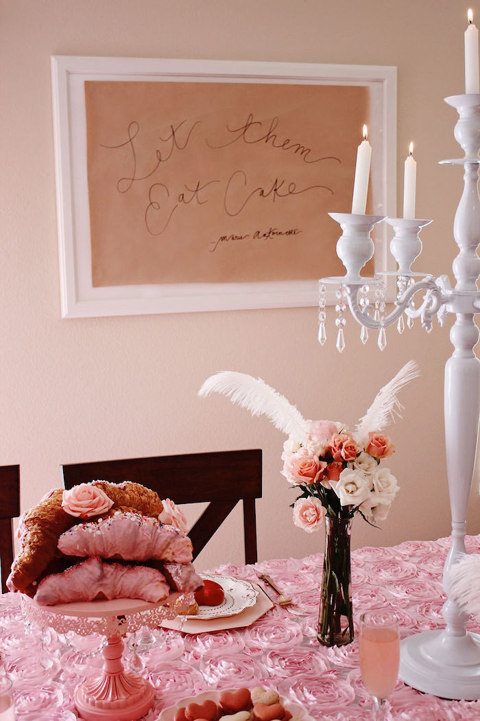 Let Them Eat Cake Sign from a Marie Antoinette Inspired Party on Kara's Party Ideas | KarasPartyIdeas.com (22)