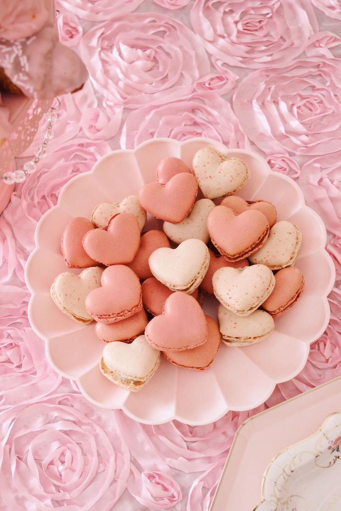 Heart Macarons from a Marie Antoinette Inspired Party on Kara's Party Ideas | KarasPartyIdeas.com (18)