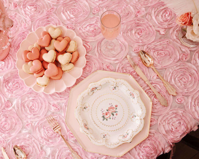 Vintage Hight Tea Table Setting from a Marie Antoinette Inspired Party on Kara's Party Ideas | KarasPartyIdeas.com (17)
