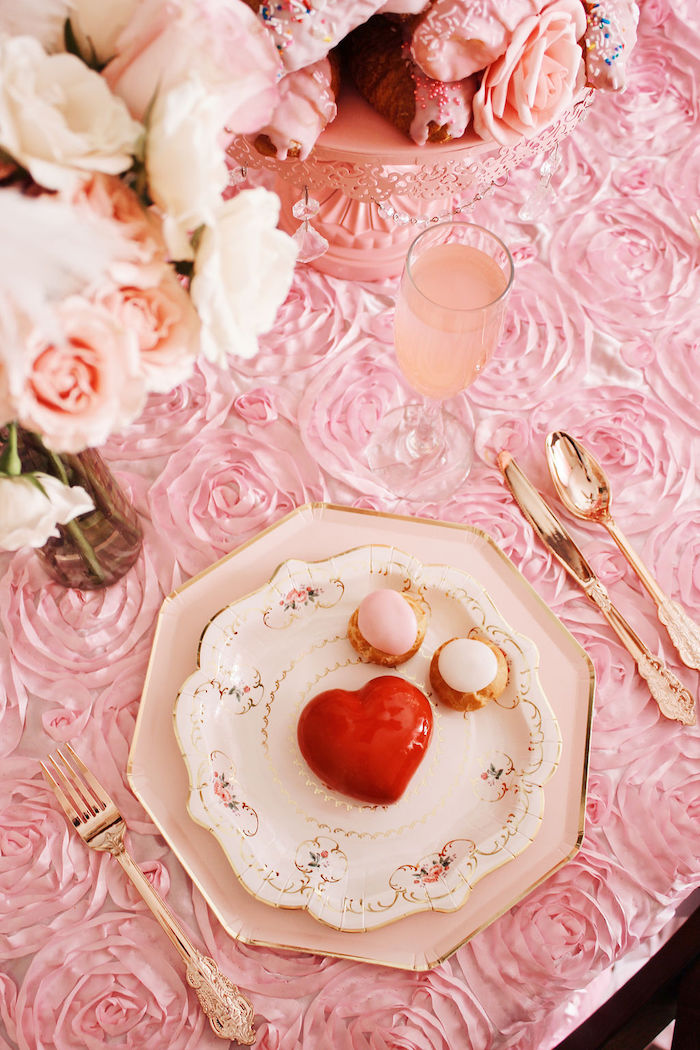 Vintage Table Setting from a Marie Antoinette Inspired Party on Kara's Party Ideas | KarasPartyIdeas.com (14)