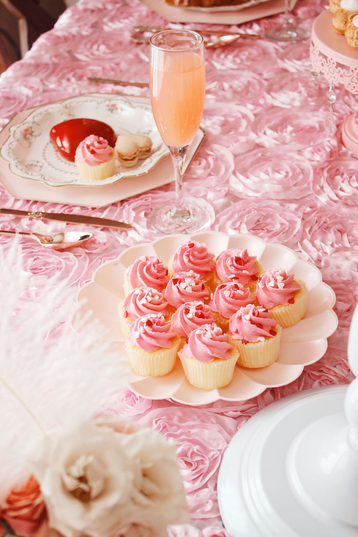 Pink-iced Cupcakes from a Marie Antoinette Inspired Party on Kara's Party Ideas | KarasPartyIdeas.com (6)
