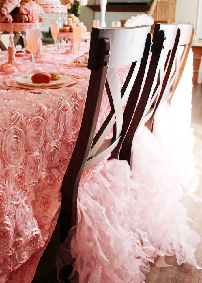 Ruffle Tassel Chair Skirt from a Marie Antoinette Inspired Party on Kara's Party Ideas | KarasPartyIdeas.com (5)