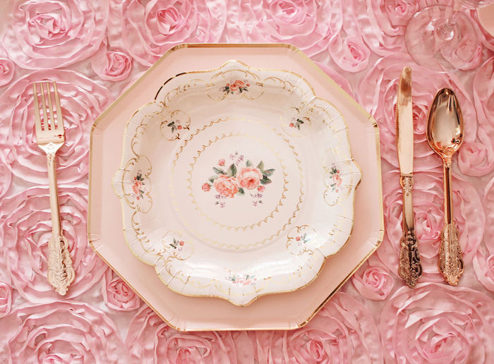 Vintage Hight Tea Table Setting from a Marie Antoinette Inspired Party on Kara's Party Ideas | KarasPartyIdeas.com (30)