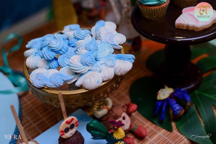 Wave Meringues from a Moana Birthday Party on Kara's Party Ideas | KarasPartyIdeas.com (35)