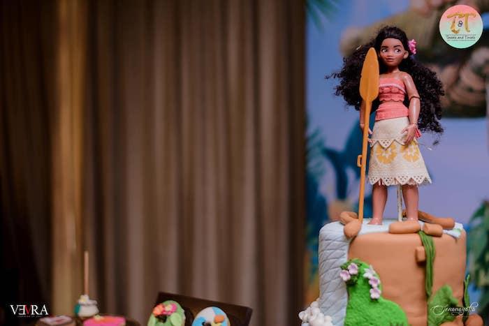 Moana Doll Cake Topper from a Moana Birthday Party on Kara's Party Ideas | KarasPartyIdeas.com (33)
