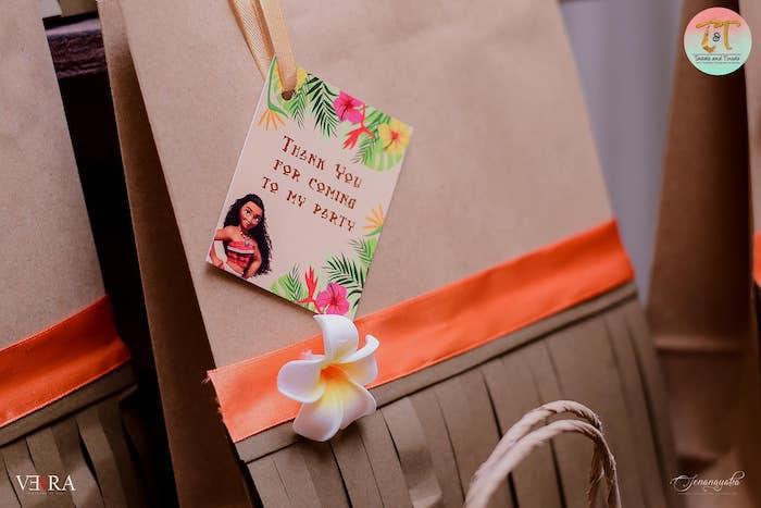 Moana-inspired Favor Bag Tags from a Moana Birthday Party on Kara's Party Ideas | KarasPartyIdeas.com (44)