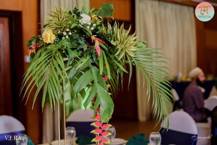 Tropical Foliage from a Moana Birthday Party on Kara's Party Ideas | KarasPartyIdeas.com (19)