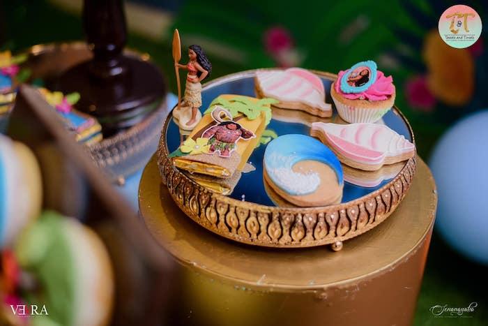 Moana Cookies + Sweets from a Moana Birthday Party on Kara's Party Ideas | KarasPartyIdeas.com (15)