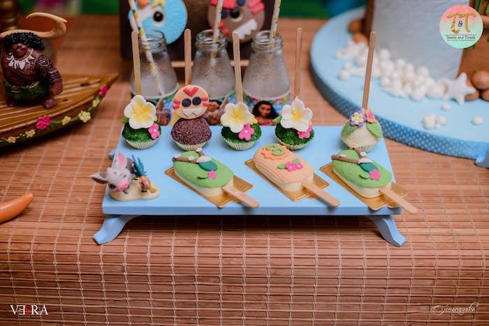 Dessert Platter full of Moana Themed Sweets from a Moana Birthday Party on Kara's Party Ideas | KarasPartyIdeas.com (12)