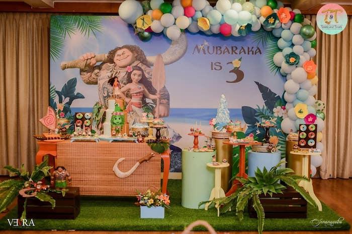 Moana Birthday Party on Kara's Party Ideas | KarasPartyIdeas.com (10)