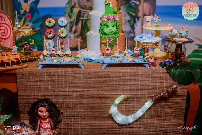 Moana Themed Dessert Table from a Moana Birthday Party on Kara's Party Ideas | KarasPartyIdeas.com (7)