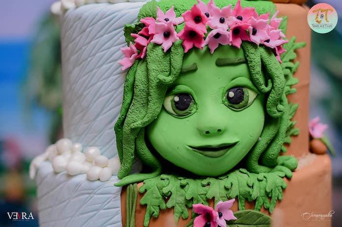 Moana Themed Birthday Cake from a Moana Birthday Party on Kara's Party Ideas | KarasPartyIdeas.com (42)