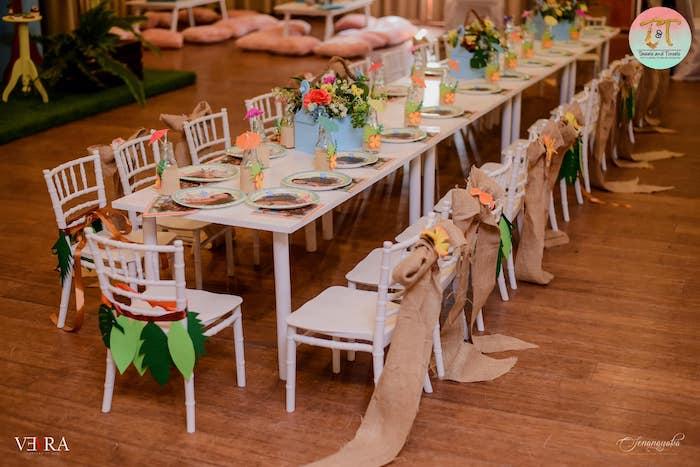 Moana Themed Guest Table from a Moana Birthday Party on Kara's Party Ideas | KarasPartyIdeas.com (38)