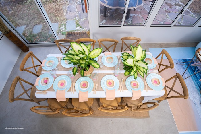 Moana Themed Party Table from a Modern & Fresh Moana Birthday Party on Kara's Party Ideas | KarasPartyIdeas.com (27)
