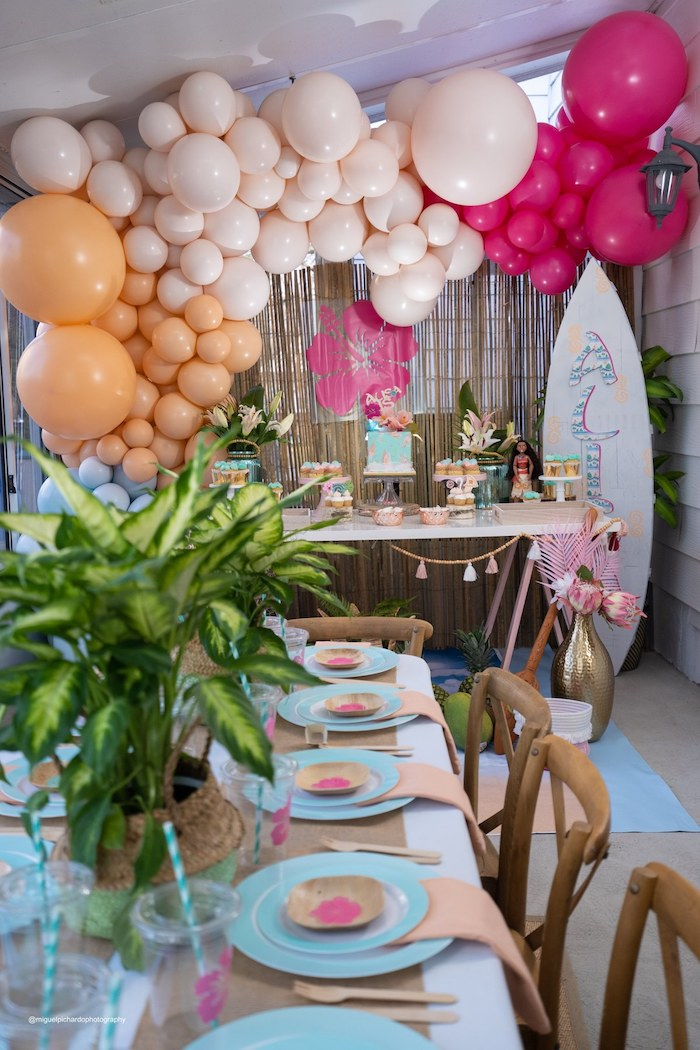 Modern & Fresh Moana Birthday Party on Kara's Party Ideas | KarasPartyIdeas.com (20)