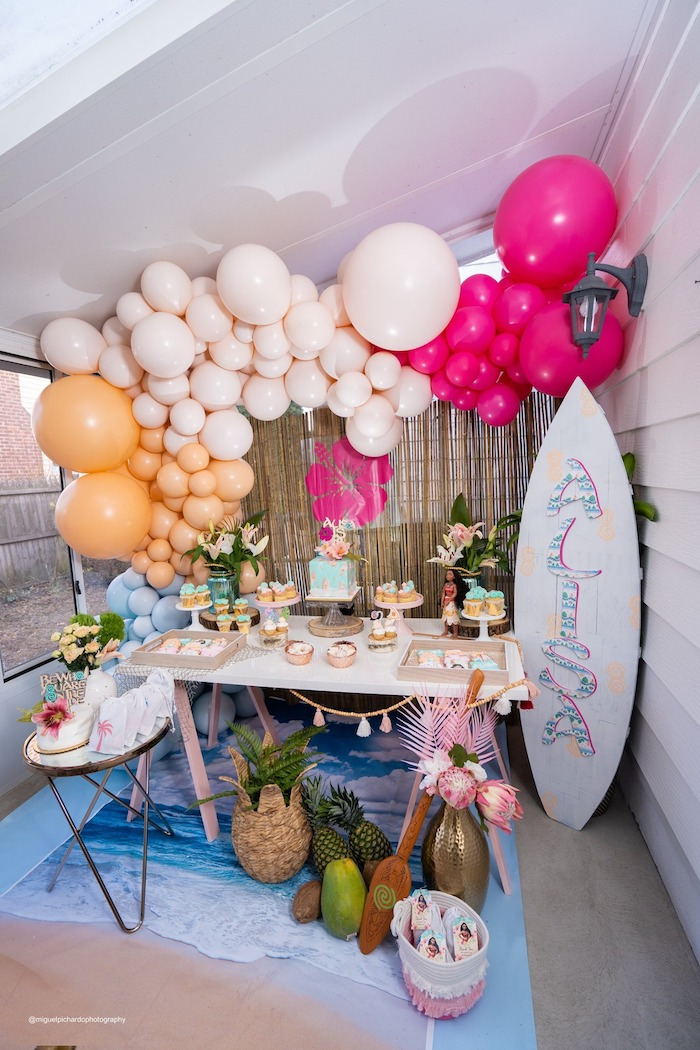 Modern & Fresh Moana Birthday Party on Kara's Party Ideas | KarasPartyIdeas.com (9)