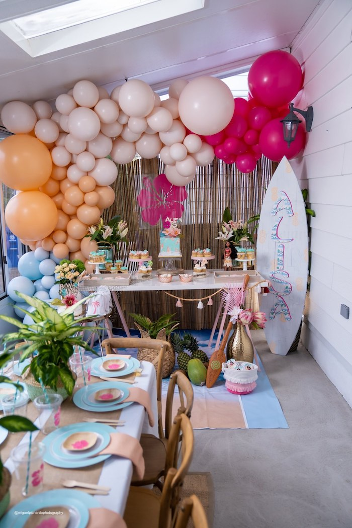 Modern & Fresh Moana Birthday Party on Kara's Party Ideas | KarasPartyIdeas.com (35)