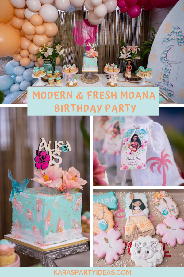 Modern & Fresh Moana Birthday Party via Kara's Party Ideas - KarasPartyIdeas.com