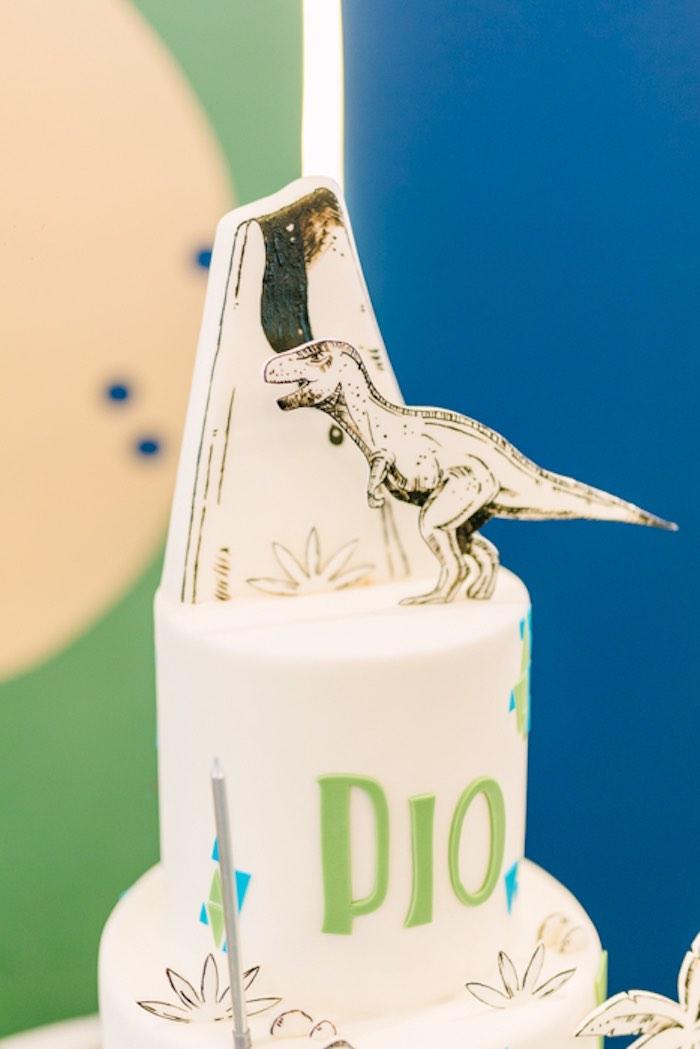 Mod Dinosaur Cake from a Modern Rustic Dinosaur Birthday Party on Kara's Party Ideas | KarasPartyIdeas.com (48)