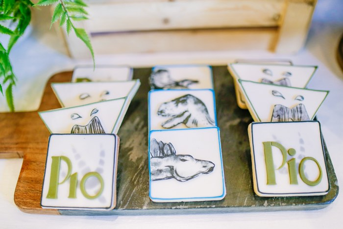 Dinosaur Cookies from a Modern Rustic Dinosaur Birthday Party on Kara's Party Ideas | KarasPartyIdeas.com (25)