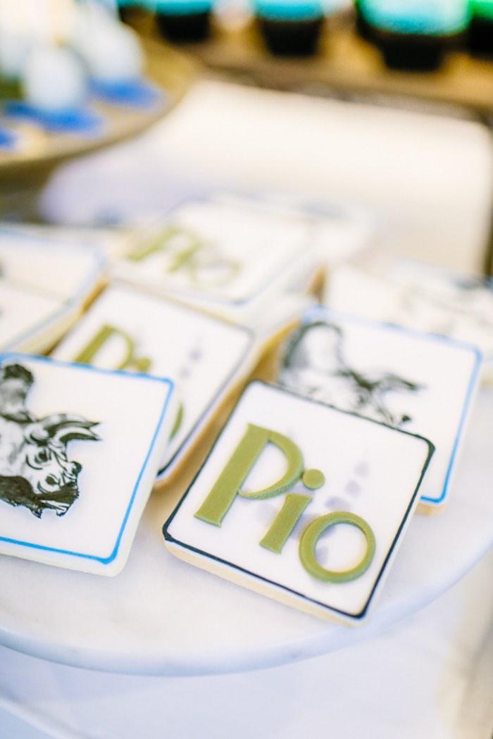 Dinosaur Cookies from a Modern Rustic Dinosaur Birthday Party on Kara's Party Ideas | KarasPartyIdeas.com (23)