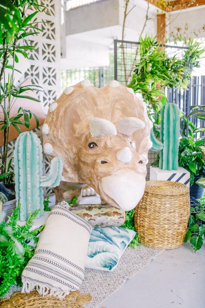 3-Horn Dino from a Modern Rustic Dinosaur Birthday Party on Kara's Party Ideas | KarasPartyIdeas.com (13)