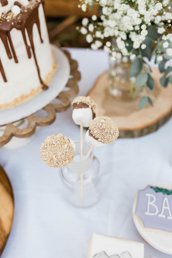 Mountain Camping Outdoor Baby Shower on Kara's Party Ideas | KarasPartyIdeas.com (17)
