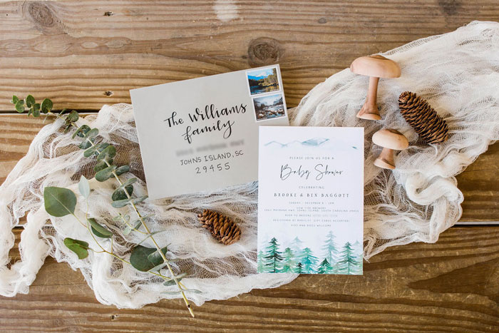 Mountain Tree Party Signage + Invitation from a Mountain Camping Outdoor Baby Shower on Kara's Party Ideas | KarasPartyIdeas.com (35)
