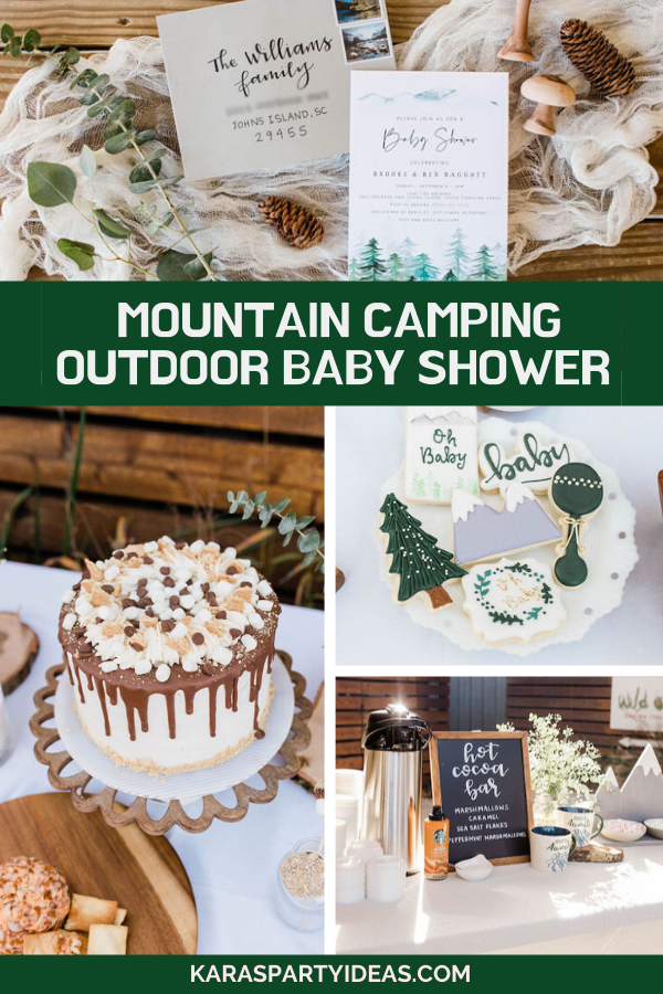 Mountain Camping Outdoor Baby Shower via Kara's Party Ideas - KarasPartyIdeas.com