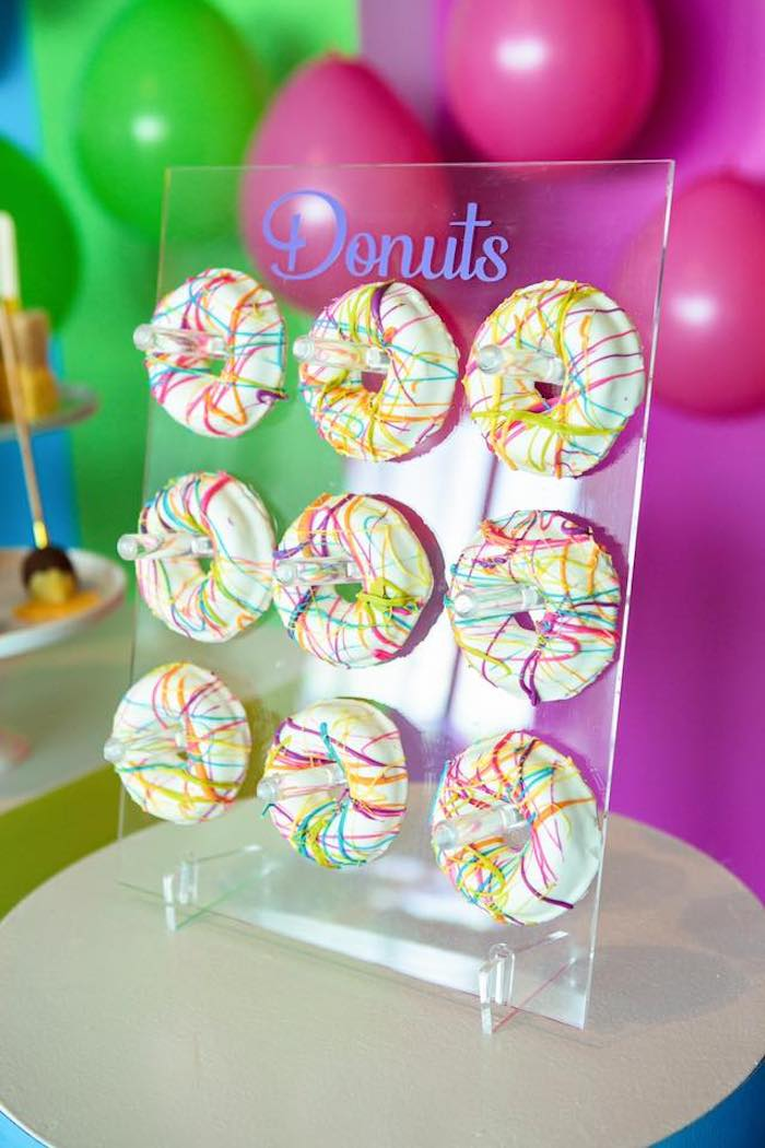 Art Donuts from a Neon Art Party on Kara's Party Ideas | KarasPartyIdeas.com (33)