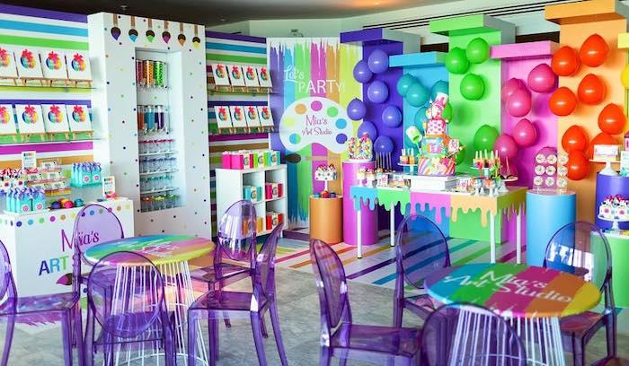 Neon Art Party on Kara's Party Ideas | KarasPartyIdeas.com (31)