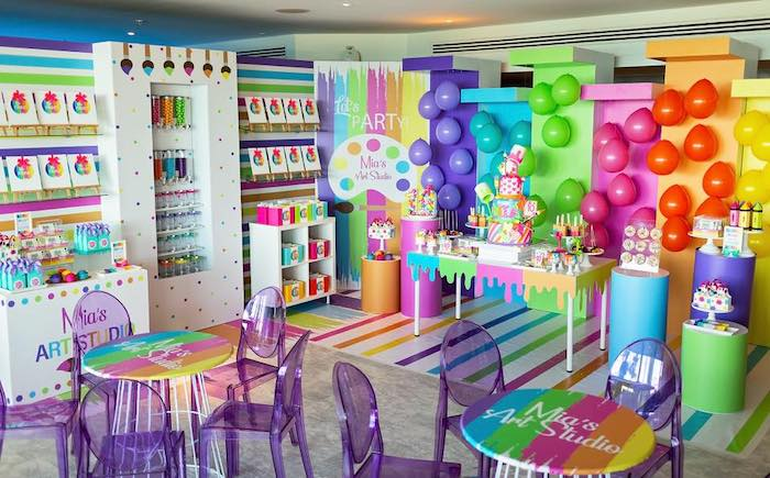 Neon Art Party on Kara's Party Ideas | KarasPartyIdeas.com (25)