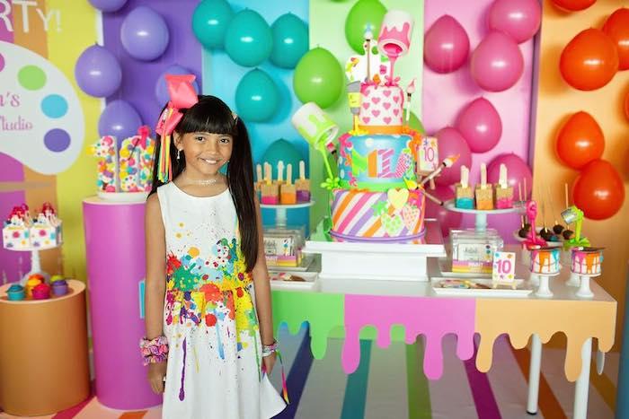 Neon Art Party on Kara's Party Ideas | KarasPartyIdeas.com (17)