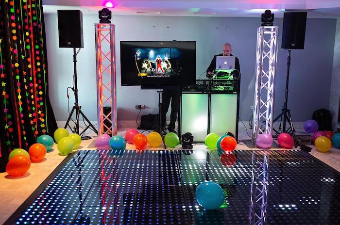 Neon Dance Floor from a Neon Art Party on Kara's Party Ideas | KarasPartyIdeas.com (40)