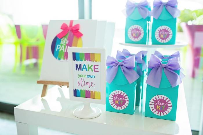 Slime Kits from a Neon Art Party on Kara's Party Ideas | KarasPartyIdeas.com (37)