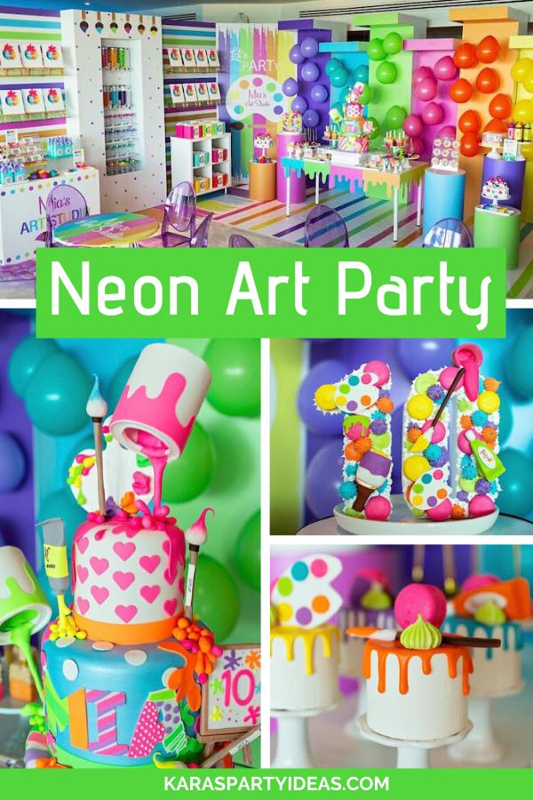 Neon Art Party via Kara's Party Ideas - KarasPartyIdeas.com