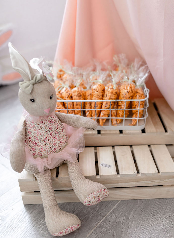 Carrot Snack Bags from a Pastel Bunny Baptism Party on Kara's Party Ideas | KarasPartyIdeas.com (15)