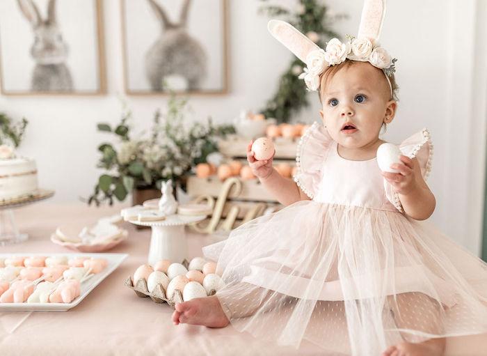 Pastel Bunny Baptism Party on Kara's Party Ideas | KarasPartyIdeas.com (9)