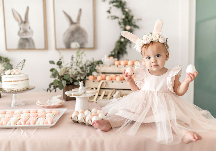 Pastel Bunny Baptism Party on Kara's Party Ideas | KarasPartyIdeas.com (8)