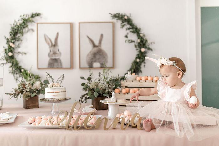 Pastel Bunny Baptism Party on Kara's Party Ideas | KarasPartyIdeas.com (7)
