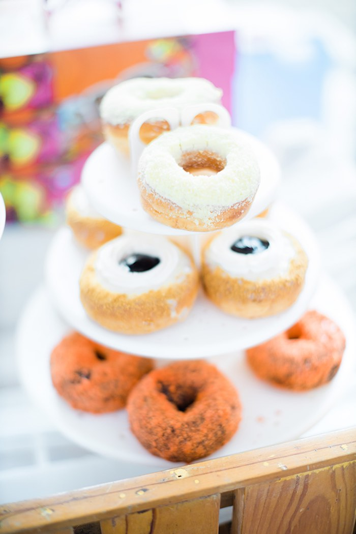 Donuts from a Pastel Donut Baby Shower + Gender Reveal on Kara's Party Ideas | KarasPartyIdeas.com (23)