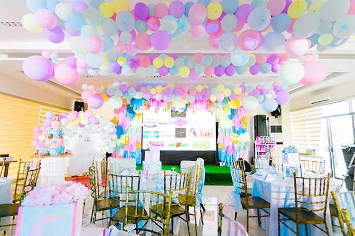 Pastel Party Venue from a Pastel Donut Baby Shower + Gender Reveal on Kara's Party Ideas | KarasPartyIdeas.com (11)